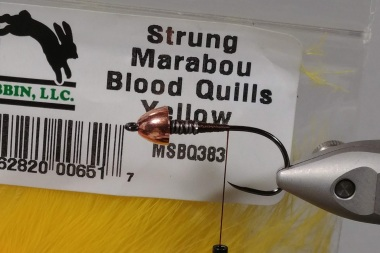 Yellow Marabou Blood Quills are pretty good too
