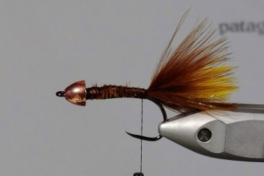 All three marabou feathers tied down.